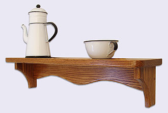Oak Wood Wall Shelf | Decorative Wall Mounted Shelves | Wood Pens ...