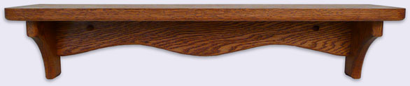 Oak Wood Wall Shelf, Modern Style, 24 inches