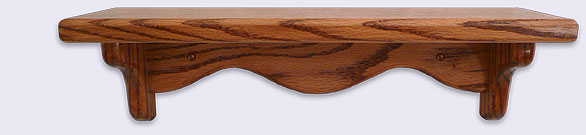 Small Wood wall shelf, Mini Series, 16 inches