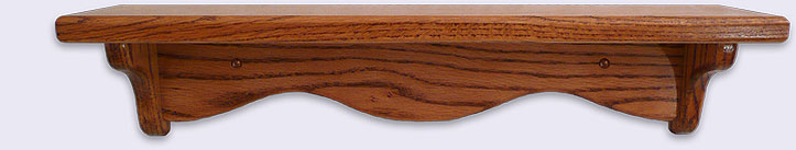 Small Wood wall shelf, Mini Series, 20 inches