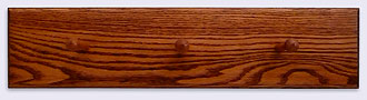 Picture of the back of a Solid Oak Wood Coat Rack / Hanger, 24 inches